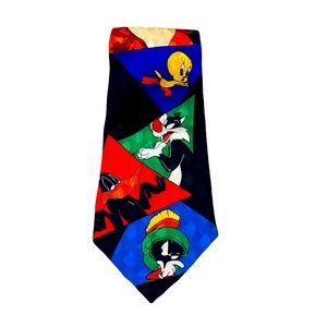 Warner Bros Looney Tunes Silk Tie Taz Bugs Bunny